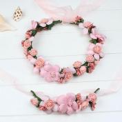 Simulation flower fashion headdress bride wedding bridesmaid headdress wreath