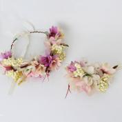 Ladies simulation wreath headdress bracelet bride bridesmaid accessories
