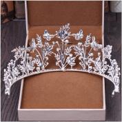 Simple bride crown headdress pearl diamond wedding dress accessories