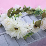 Bride headdress flower studio photo shoot seaside holiday wedding jewellery