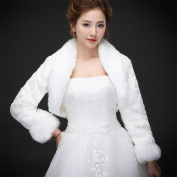 Woman'S Hair Shawl Cape Wraps Wedding Dress Cloak Jacket For The Bride White