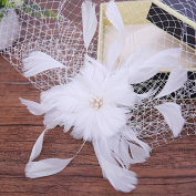 Bride Continental Retro NET yarn Feathers Linen cap Wedding Accessories