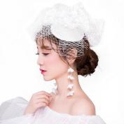 Retro NET yarn Modelling Cap Bridal Headdress Wedding Photography Hair Ornaments