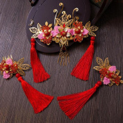 Costume Bride Headdress Fringed Coronet Chinese style Wedding Xiu wo Clothing Hair Ornaments