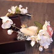 Fresh rural bride Hair bands Wreaths accessories Beauty makeup