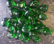 500g app 35 of GREEN Glass Stones 25-35mm