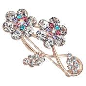 Fablcrew Plum Blossom Brooch Pin Fashion Crystal Corsage Birthday Wedding Bridal Pin Ornament