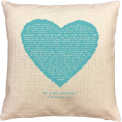 Foo Fighters Everlong song words/ lyrics CUSHION - ideal Cotton 2nd Anniversary Gift - with your own PERSONALISATION