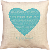 Ed Sheeran SHAPE OF YOU song words/ lyrics CUSHION - ideal Cotton 2nd Anniversary Gift - with your own PERSONALISATION