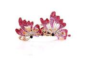 andensoner Women Lady Elegant Flying Butterfly Shaped Rhinestone Hair Barrette Clip