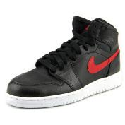 Nike Boys' Air Jordan 1 Retro High BG Basketball Shoes, Black / Red (Black / Gym Red-Black-White), 6