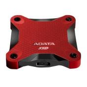 ADATA SD600 256GB External SSD Drive, USB 3.1, Durable, R/W 440/430 MB/s, Red