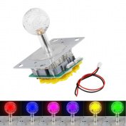 LED Colourful Illuminated Joystick Switchable from 4 to 8 Way Operation for Arcade Game DIY Kits