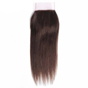 "Moresoo 14""/35cm 35gram 3.5*4 Top Lace Closure Chocalate Brown/#4 Bleached Knots with Baby Hair Brazilian Hair Straight Free Part Lace Closure Human Hair"