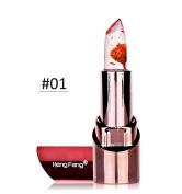 Jelly Lipstick With Flower,VNEIRW Women Makeup Mac Temperature Colour Changing Lip Balm Lip Gloss