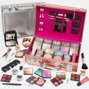 Professional Dawn Till Dusk 80pc Makeup Large Storage Vanity Case Set in Choice of colour