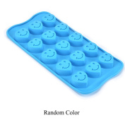 Fittoway Silicone Baking Candy Moulds 15pcs-Smile Heart Face Cake Pan for Chocolate,Soap,Ice Cream