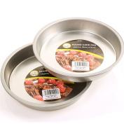 5.1cm x 20cm Round Cake Pans - 3.8cm Deep Tin/Trays - Baking Cooking Moulds