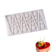 Affe Silicone Fondant Cake Side Decoration Mould Triangular Circle Cake Mould Baking Chocolate Silicone Moulds