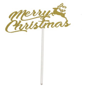 DIKEWANG Merry Christmas Xma Cake Toppers Set Christmas Party Decoration Supplies for Celebrating Christmas