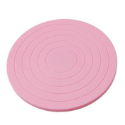 F-eshiat Cake Turntable, Icing Single Tier 360 Degrees Rotating Cake Stwith Cake Decorating Holder Pink