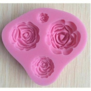 W.Air Rose Silicate Cake Mould Flower Chocolate Mould Decoratiat Baking Tools