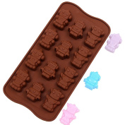 Silicone Mould, Outgeek Creative Baking Mould Robot Shaped Pudding Mould Cake Mould