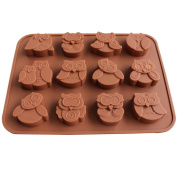 Silicone Mould, Outgeek Kitchen Baking Mould Owl Shaped Chocolate Mould Jelly Mould for Home