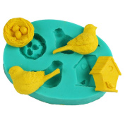 Silicone Mould, Outgeek Home Baking Mould Creative Turtle Bird Nest Cake Mould