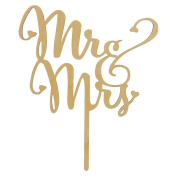 Fittoway Wooden Mr and Mrs Cake Toppers Wedding Supplies Cake Decorating Party Cake Topper