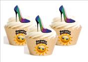 12 x – Heel Bright Multicolor Cartoon Printed Decoration Edible personalizacion Pizza Frame Happy Birthday