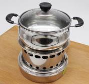 Shabu Shabu Stainless Steel Liquid Alcohol Stove Dormitory Self-service Small Pot Outdoor Portable Outdoor Stove