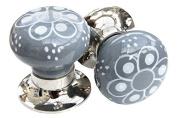Mortice knob - Grey Pattern