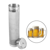 GuDoQi Stainless Steel Beer Dry Hopper Filter 300 Micro Mesh Home Brew Hopper Strainer for Home Beer Wine Brewing