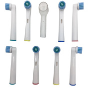 Dr Kao® 8 Pack Toothbrush Heads for Children for Oral B Toothbrush Heads with One Head Cover Made with Dupont Nylon Electric Toothbrush Heads for Braun Toothbrush Heads for Oral-B Toothbrush Heads