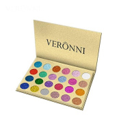 VERONNI 1pcs 24 Colours Shimmer Eyeshadow Highlighter Contour Palette Makeup Glitter Powder Shading Eye shadow Make Up Cosmetic Beauty