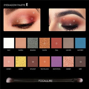 FOCALLURE 14 Colours Eyeshadow Palette Matte Glitter Shimmer Tropical Vacation Eyeshadow Palette with Brush Style 2
