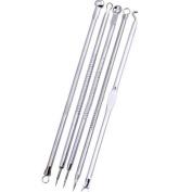 5pcs Stainless Steel Blackhead Extrator Double-Headed Pimple Acne Needle Xuanhemen