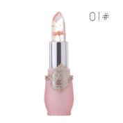 Yukong Bright Flower Crystal Jelly Lipstick Long Lasting Temperature Change Colour Lip Gloss Lip Balm