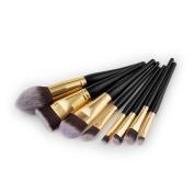 Yosemite 8Pcs Makeup Brush Foundation Eye Shadow Wooden Handle Cosmetic Beauty Tool