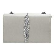 squarex Girl Leather Mini Small Feather Metal Chain Shoulder Bag Handbag Messenger
