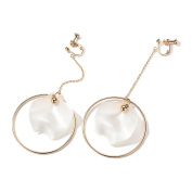 Personality Large Circle of Earrings, Women's Temperament Long Ear Clip No Ear Hole
