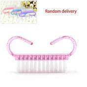 1pc Trumpet Nail Brush Beauty Manicure Tool Cleaning Random Colour Xuanhemen