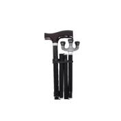 Hmhope Elderly Walking Sticks/Canes Aluminium Alloy Solid Wood Handle Folding Adjustable