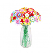 TOYMYTOY Artificial DIY Button Flower Bouquet DIY Handmade Crafts Kids Toys