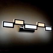 GAOLILI Led Mirror Front Light Simple Modern Waterproof Fog Wall Lamp Bathroom Bathroom Mirror Cabinet Makeup Lights 12w