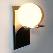 MAM-BIDENG Bathroom Wall Light,1 Light, Modern Globe Metal Glass Electroplating