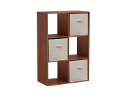 Homestar 6 Cube with Fabric Bins, Cherry Spice