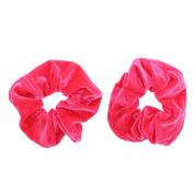 Zac's Alter Ego® Pair of Luxurious Velvet Hair Scrunchies - Variety of Colours