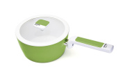Currency Pantone Greenery 1 Handle Casserole with Lid, Aluminium, white